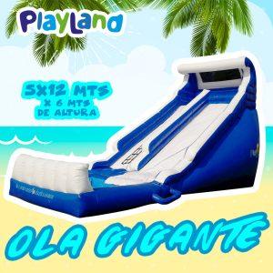 Ola gigante (wave slide) acuático